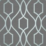 Apex Geometric Trellis Wallpaper Slate Grey and Blue Fine Decor
