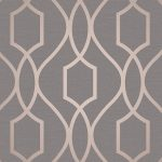 Apex Geometric Trellis Wallpaper Charcoal Grey and Copper Fine Decor
