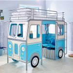 DeVan Mid Sleeper Single Camper Van Bed – Blue