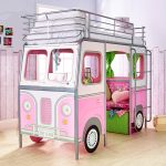 DeVan Mid Sleeper Single Camper Van Bed – Pink
