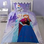 Disney Frozen Snowflake Single Duvet Cover and Pillowcase Set