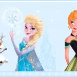 Disney Frozen Self Adhesive Wallpaper Border – Light Blue (FR3503-1)