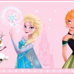 Disney Frozen Self Adhesive Wallpaper Border – Light Pink (FR3503-1)