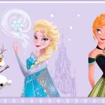 Disney Frozen Self Adhesive Wallpaper Border – Lilac (FR3503-3)