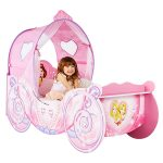 Disney Princess Carriage Feature Toddler Bed Plus Deluxe Foam Mattress