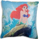 Disney Princess Ariel Little Mermaid Sequin Cushion