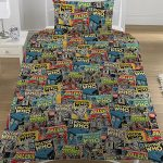 Doctor Who Comics Single Duvet Cover and Pillowcase Set