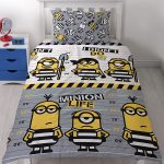 Despicable Me Minions Jailbird Single Duvet Cover Set – Rotary Design