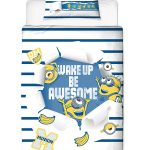 Despicable Me Minions Awesome Single Duvet Cover and Pillowcase Set