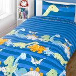 Dinosaurs Double Duvet Cover and Pillowcase Set – Blue