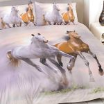 Galloping Horses King Size Duvet Cover and Pillowcase Set