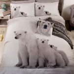 Polar Bear Family Single Duvet Cover and Pillowcase Set