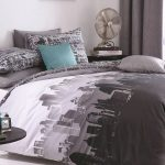 Catherine Lansfield City Scape Double Duvet Cover Set