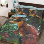 Jurassic T-Rex Dinosaur Double Duvet Cover Set – Exclusive Design