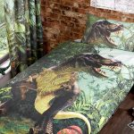 T-Rex Dinosaur Single Duvet Cover and Pillowcase Set