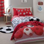 Catherine Lansfield Football Red Double Duvet Cover Set