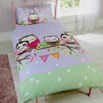 Goodnight Sweetheart Owls 4 in 1 Junior Bedding Bundle Set (Duvet,