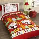 Santa's List Double Christmas Duvet Cover and Pillowcase Set