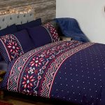 Nordic Christmas Double Duvet Cover and Pillowcase Set – Blue