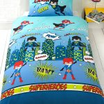 Superheroes 4 in 1 Junior Bedding Bundle Set (Duvet, Pillow and