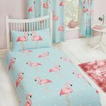 Fifi Flamingo Single Duvet Cover and Pillowcase Set