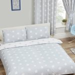 Grey and White Stars Double Duvet Cover and Pillowcase Set