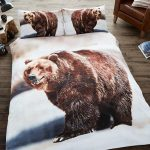 3D Bear Double Duvet Cover and Pillowcase Set