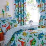 Dinosaur Blue Single Duvet Cover and Pillowcase Set