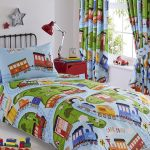 Train Tracks Single Duvet Cover and Pillowcase Set