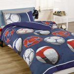 Football Blue Junior Toddler Duvet Cover and Pillowcase Set