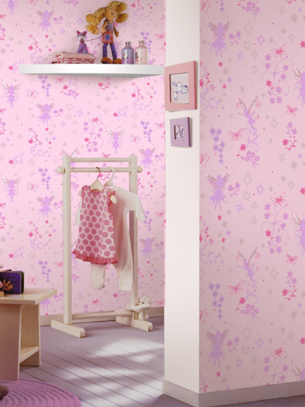 Fine Decor Hoopla Pretty Birds Wallpaper Pink DL30700 Girls Bedroom Nursery Kids