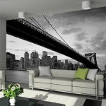 Brooklyn Bridge with Manhattan Skyline Wall Mural 232 x 315 cm