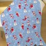 Elf On The Shelf Snowflake Coral Fleece Blanket