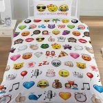 Emoji Multi Single Duvet Cover and Pillowcase Set