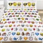 Emoji Multi Double Duvet Cover and Pillowcase Set