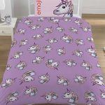 Emoji Unicorn Single Duvet Cover and Pillowcase Set