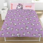Emoji Unicorn Double Duvet Cover and Pillowcase Set