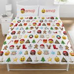 Emoji Christmas Double Duvet Cover and Pillowcase Set