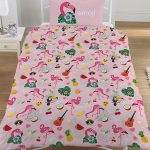 Emoji Flamingo Reversible Single Duvet Cover and Pillowcase Set