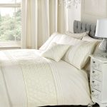 Everdean Floral Cream Double Duvet Cover and Pillowcase Set