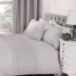 Everdean Floral Grey Super King Duvet Cover and Pillowcase Set