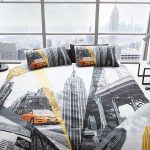 New York Fifth Avenue Double Duvet Cover and Pillowcase Set