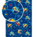 Fireman Sam Single Fitted Sheet – Blue