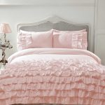 Flamenco Ruffle Blush Pink Super King Duvet Cover and Pillowcase Set