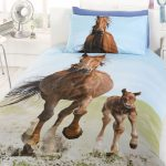 Follow My Lead Horse & Foal Single Duvet Cover and Pillowcase Set