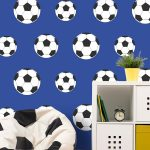 Goal Football Wallpaper Dark Blue Belgravia Decor 9721