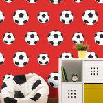 Goal Football Wallpaper Red Belgravia Decor 9720