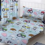 Farm Animals 4 in 1 Junior Bedding Bundle Set (Duvet, Pillow and
