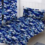 Blue Camouflage Single Duvet Cover and Pillowcase Set