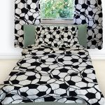 Football Reversible Single Duvet Cover and Pillowcase Set